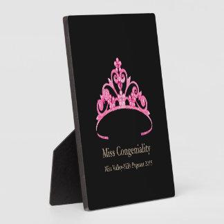 Plaque Photo La couronne rose de diadème de Mlle Amérique