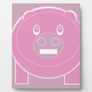 Plaque Photo La forme a fait le porc