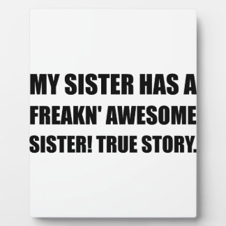 Plaque Photo La soeur a la soeur impressionnante