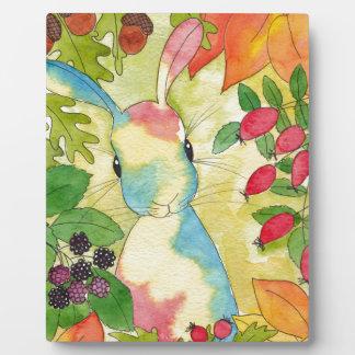 Plaque Photo Lapin d'automne par art de menthe poivrée