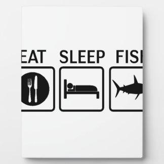 Plaque Photo les poissons mangent le sommeil