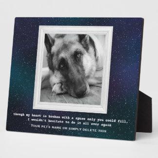 Plaque Photo Mémorial d'animal familier de berger allemand avec