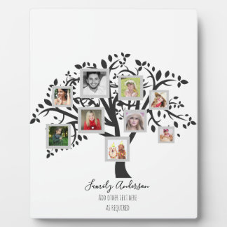 Plaque Photo Modèle d'arbre généalogique de collage de photo