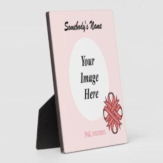 Plaque Photo Modèle rose de ruban de trèfle