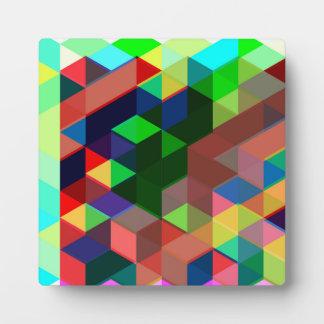 Plaque Photo Motif géométrique audacieux de cube