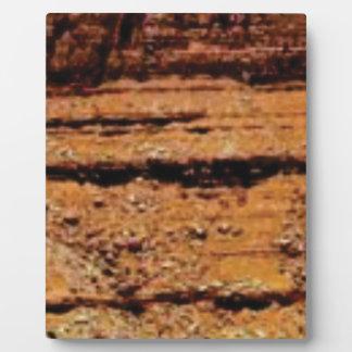Plaque Photo mur posé de gravier