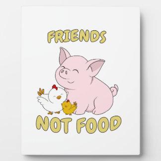 Plaque Photo Nourriture d'amis pas - porc et poulet mignons