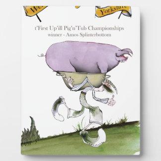 Plaque Photo nous aimons la course de porc d'up'ill de