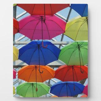 Plaque Photo parapluie coloré