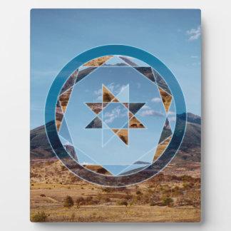 Plaque Photo Paysage abstrait avec des formes géométriques