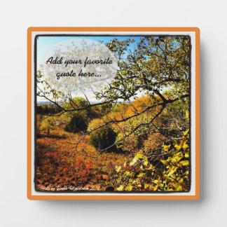 Plaque Photo Photo d'art de nature d'automne avec votre