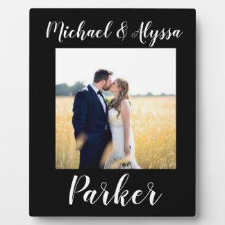 Plaque Photo photo de mariage