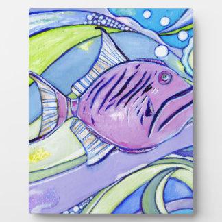 Plaque Photo Poissons de Surfin