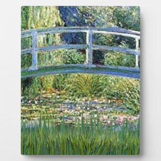 Plaque Photo Pont d'étang de lis - insérez votre animal