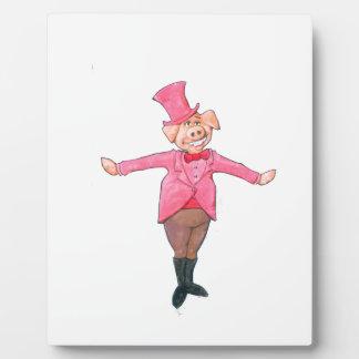 Plaque Photo Porc dans un casquette supérieur
