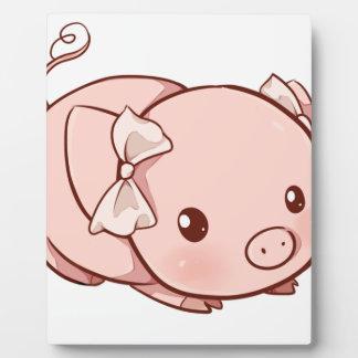 Plaque Photo Porc de Cutie