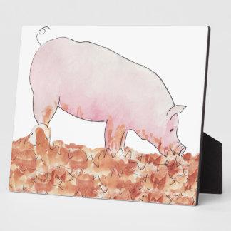 Plaque Photo Porc mignon dans l'art animal pour aquarelle drôle