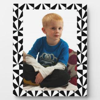Plaque Photo Rétro blanc noir génial audacieux géométrique