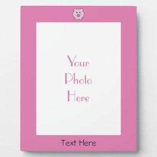 Plaque Photo Sadie le porc rose