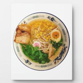 Plaque Photo Soupe de nouilles de Ramen de porc