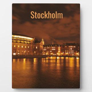 Plaque Photo Stockholm, Suède la nuit