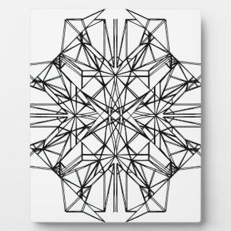 Plaque Photo symétrie géométrique
