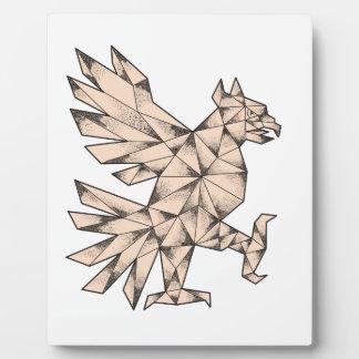 Plaque Photo Tatouage de Cuauhtli Glifo Eagle