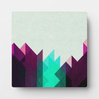 Plaque Photo Teal géométrique et conception pourpre