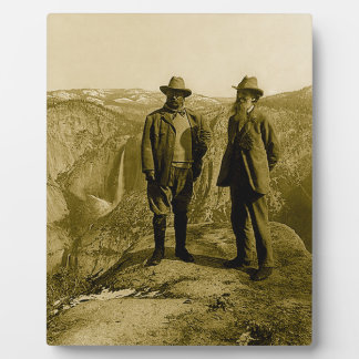 Plaque Photo Teddy Roosevelt et John Muir au point de glacier