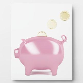 Plaque Photo Tirelire et pièces de monnaie