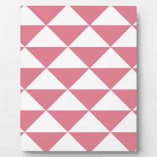 Plaque Photo Triangles roses et blanches de sucrerie de coton