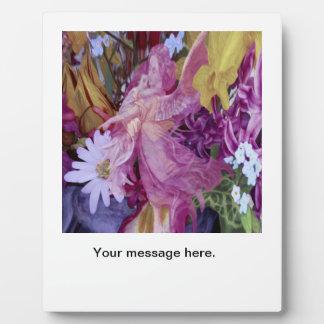 Plaque Photo Un ange gardien rose avec l'enfant