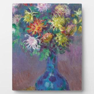 Plaque Photo Vase de chrysanthèmes Claude Monet