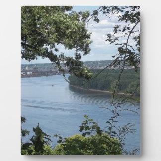 Plaque Photo Ville de Dubuque, Iowa sur le fleuve Mississippi