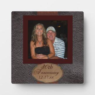 Plaque simili cuir de photo d'anniversaire photos sur plaques