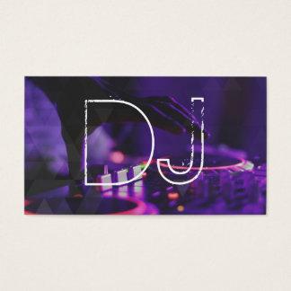 Plaque tournante d'événement de partie de musique cartes de visite