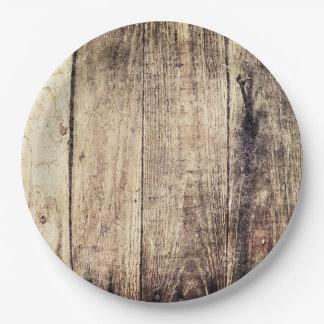 Plaques à papier de Barnwood Assiettes En Papier
