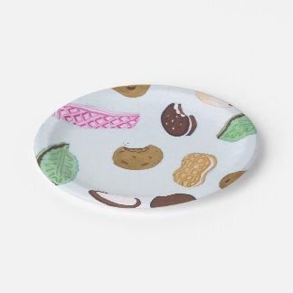 Plaques à papier de biscuits colorés assiettes en papier