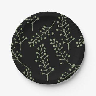 Plaques à papier de brindilles olives assiettes en papier