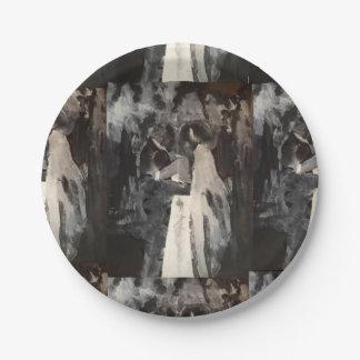 Plaques à papier de peinture de danse nuptiale assiettes en papier