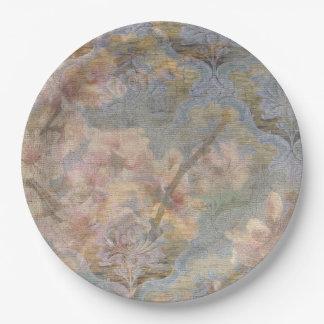 Plaques à papier de tapisserie de fleur d'amande assiettes en papier