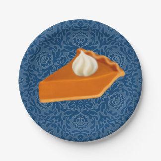 Plaques à papier de tranche de tarte de citrouille assiettes en papier