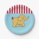 Plaques à papier d'éléphant de tente de cirque assiette en papier 17,8 cm