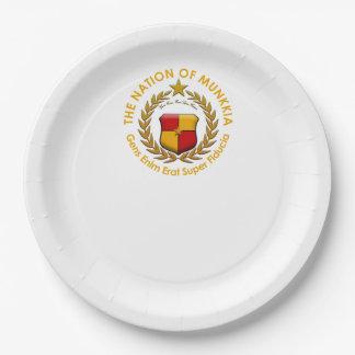 Plaques à papier d'emblème de Munkkia Assiettes En Papier