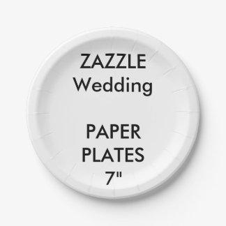 """Plaques à papier faites sur commande de mariage 7"""" assiettes en papier"""