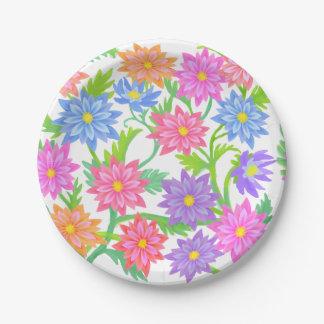 Plaques à papier florales de jardin anglais assiettes en papier