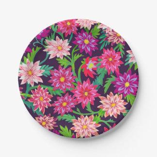 Plaques à papier florales enchantées de rose de assiettes en papier
