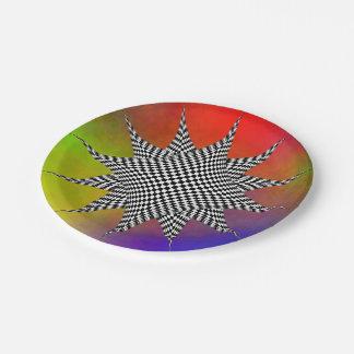 Plasma moderne assiettes en papier