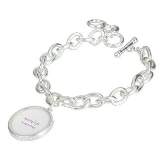 plat argenté de bracelet rond de charme