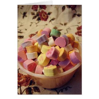 Plat de crème anglaise de sucrerie de Valentine Carte